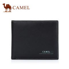 Camel骆驼男士钱包商务休闲短款牛皮皮夹男青年横款软皮夹潮