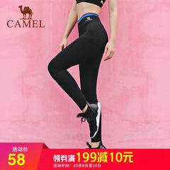 骆驼户外 运动休闲服 长裤女跑步紧身弹力健身服高腰速干瑜伽裤子