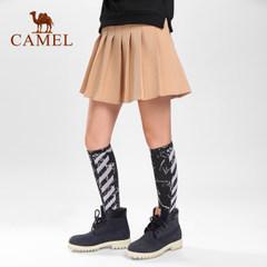 CAMEL骆驼运动袜 高筒滑板袜 舒适保暖微弹吸汗止滑透气运动袜子