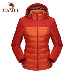 骆驼&8264登山队系列 户外羽绒服女 秋冬防风保暖修身羽绒服外套