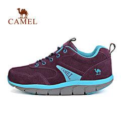 CAMEL骆驼户外男女徒步鞋 缓震防滑耐磨透气低帮系带户外徒步鞋女