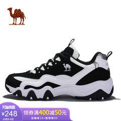 駱駝運動鞋女 新款潮流減震防滑跑鞋情侶款黑白熊貓休閑男跑步鞋