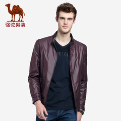 骆驼男装 春秋装男士旅行夹克上衣潮流薄青年短款立领休闲外套男