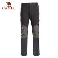 CAMEL骆驼户外软壳裤 秋冬保暖男士休闲耐磨防风防水户外软壳长裤