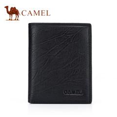 Camel骆驼钱包商务钱夹男牛皮青年卡包竖款正品男士皮夹韩版