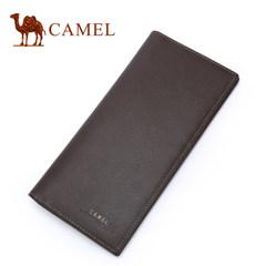 Camel骆驼钱包长款钱夹男牛皮青年时尚卡包男士皮夹韩版