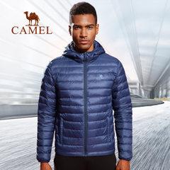 CAMEL駱駝戶外運動羽絨服男 短款輕薄保暖防風運動服羽絨 外套冬