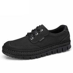 骆驼男鞋 冬季舒适手工缝磨砂软牛皮耐磨防滑日常休闲鞋舒适男鞋