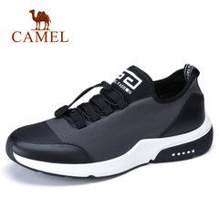 Camel/骆驼男鞋2018春季新款潮运动鞋男缓震户外牛皮运动休闲鞋男