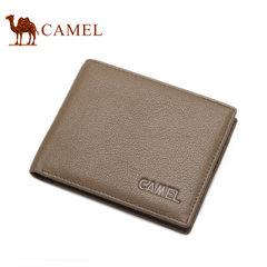 Camel/骆驼钱包男短款头层牛皮商务钱夹薄款正品男士青年皮夹