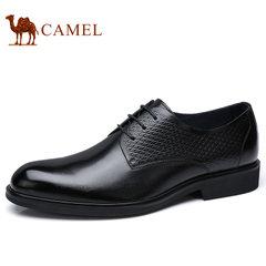 Camel/骆驼男鞋2018春季新品英伦时尚商务正装皮鞋柔软休闲皮鞋
