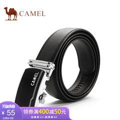 Camel/骆驼皮带男牛皮商务休闲自动扣皮带简约男士百搭黑色裤腰带