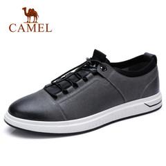 Camel/骆驼男鞋2018春季新款时尚英伦舒适板鞋牛皮潮男士休闲皮鞋