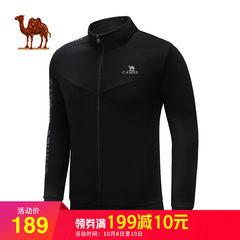 骆驼户外运动针织外套 2018春秋情侣装舒适拉链休闲外套立领潮流
