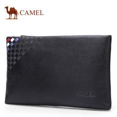 Camel骆驼男包新款男士牛皮手拿包时尚休闲手包男潮流青年信封包