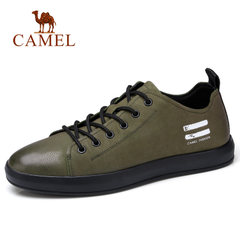 Camel/骆驼男鞋2018春季新款时尚运动休闲鞋牛皮滑板鞋韩版男潮鞋