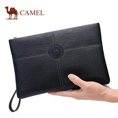 Camel骆驼男包新款男士牛皮青年手拿包时尚复古牛皮大容量手包男