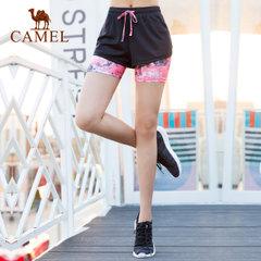 CAMEL骆驼运动裤 春夏时尚女款透气舒爽针织裤运动休闲短裤女