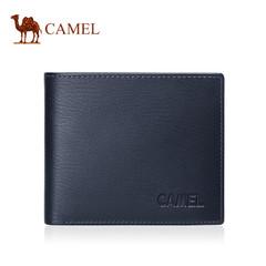 Camel骆驼男士牛皮钱包商务休闲短款皮夹男潮流青年横款软皮钱夹