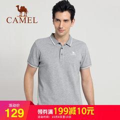 骆驼男装男士短袖纯棉翻领T恤 2018夏季爸爸青年休闲polo衫韩版