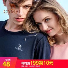 骆驼 男士短袖t恤运动情侣装夏装套装2018新款 情侣款圆领速干衣