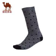 Camel/yabo sports app 秋冬季新款时尚撞色波点长袜男青年休闲袜子男袜中筒