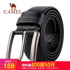 Camel骆驼新款男士腰带时尚牛皮皮带商务休闲针扣韩版青年男裤带