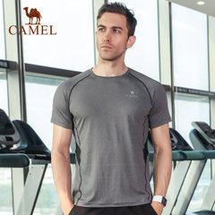駱駝健身短袖男士寬松快干衣運動跑步t恤透氣籃球訓練健身服上衣