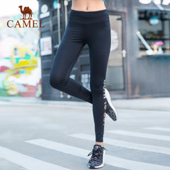 骆驼女款健身紧身长裤 女微弹跑步运动瑜伽运动长裤