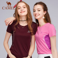 CAMEL/骆驼户外情侣休闲上衣 春夏男女透气吸汗速干短袖T恤