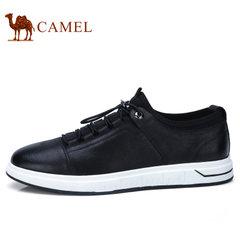 Camel/骆驼男鞋2018春季新品潮鞋男时尚英伦板鞋牛皮男士休闲皮鞋