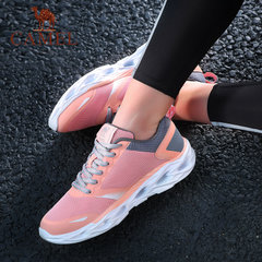 骆驼运动鞋 透气轻便舒适休闲跑鞋 休闲防滑耐磨网面跑步女鞋