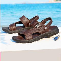 骆驼男凉鞋 2018夏季新款男士皮凉鞋休闲凉拖鞋 真皮透气沙滩鞋潮
