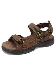 骆驼男凉鞋 2018夏季新款舒适轻底耐磨凉鞋 真皮运动休闲沙滩凉鞋