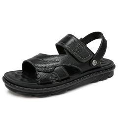 骆驼男凉鞋 2018新品夏季凉鞋 男士真皮软底休闲商务凉拖鞋沙滩鞋