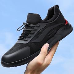 yabo sports app2018秋季黑色运动鞋男韩版时尚休闲鞋百搭户外跑步鞋潮鞋透气