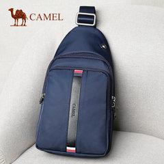 Camel骆驼男包新款男士胸包休闲时尚帆布胸前包包男单肩斜挎背包