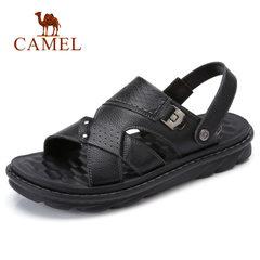 Camel/骆驼男凉鞋2018夏季新品休闲鞋两穿凉拖鞋厚底牛皮沙滩鞋男