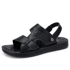 骆驼男鞋2018新款凉鞋 男夏沙滩鞋休闲凉拖 两穿凉鞋牛皮休闲凉鞋