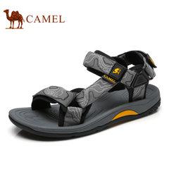 Camel/骆驼凉鞋男2018夏季新品魔术贴凉鞋防滑迷彩户外速干沙滩鞋
