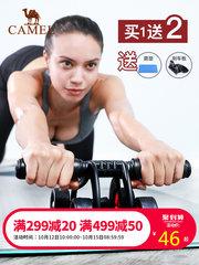 駱駝 健身器材家用 四輪 腹肌輪 健腹輪男士女士瘦腰瘦肚子臂力器