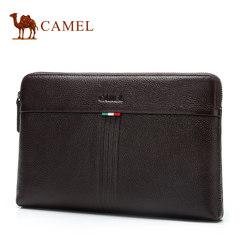 Camel骆驼男包新款男士横款手拿包牛皮时尚休闲手包潮流信封包男