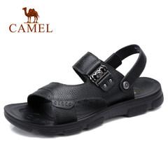 CAMEL骆驼凉鞋 男士皮凉鞋休闲凉拖鞋 防滑减震真皮透气沙滩鞋潮