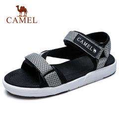 CAMEL駱駝男涼鞋 羅馬涼鞋 韓版魔術貼防滑休閑男士輕便沙灘鞋