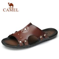 骆驼男鞋2018夏季新款 防滑缓震铆钉拖鞋 海边沙滩清凉透气拖鞋男