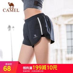 骆驼运动裤短裤女跑步健身裤防走光热裤夏季瑜伽裤宽松速干三分裤