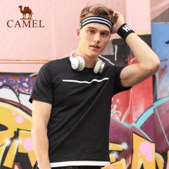 CAMEL骆驼运动T恤男款 春夏宽松透气休闲时尚短袖圆领运动上衣男