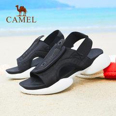 CAMEL骆驼男凉鞋 夏季青春韩版弹力套脚休闲时尚防滑运动男士凉鞋
