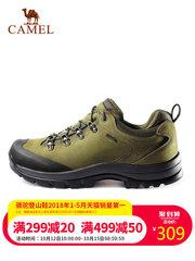 【2018新品】駱駝戶外登山鞋男女 秋冬情侶款防滑耐磨牛皮徒步鞋