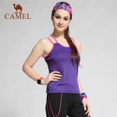 CAMEL骆驼户外速干背心 时尚春夏女款简约内搭快干衣透气运动内衣